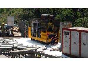 FSM Köprüsü'nde jeneratör yangını