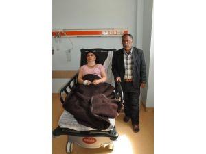 Koca dayağı genç kadını hastanelik etti