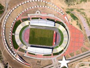 Türkiye'nin tek ay yıldızlı görünümüne sahip stadyumu tamamlandı