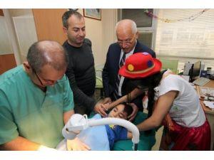 Başkan Yaşar, küçük beylerin kirvesi oldu