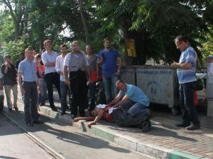 Bursa Adliyesi'nde önünde kanlı kavga