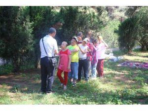 Özel eğitimli çocuklar gönüllerince eğlendi