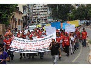 İşten çıkarılan taşeron işçiler eylem yaptı