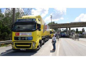 Bosna Hersek'e 5 TIR dolusu yardım yola çıktı
