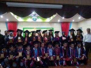 Özel Gümpembe Ortaokulu'nda mezuniyet coşkusu
