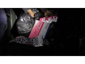 5 bin 740 paket gümrük kaçağı sigara ele geçirildi