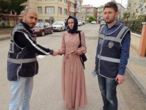 Yozgat polisinden hırsızlık olaylarına karşı broşürlü uyarı
