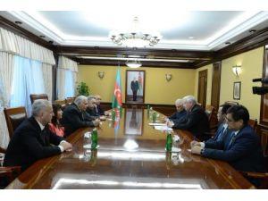 Kazakistan Meclis Başkanı Bakü'de mevkidaşlarıyla görüştü