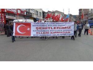 Yozgat'ta bayrak yürüyüşü