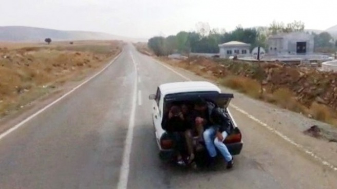 Otomobil Bagajında Tehlikeli Yolculuk