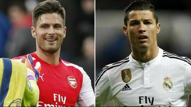 Giroud, Ronaldo'yu geride bıraktı