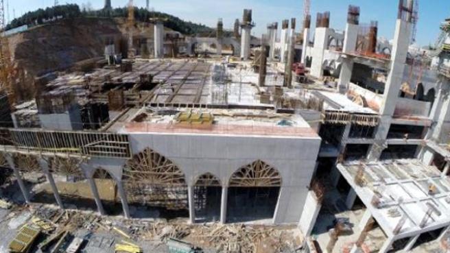 Çamlıca Camii'nin Kaba İnşaatının Yüzde 75'i Tamamlandı