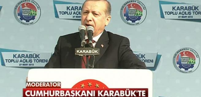 Cumhurbaşkanı Erdoğan Karabük'te konuşuyor