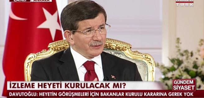Davutoğlu'ndan canlı yayında flaş izahatlar