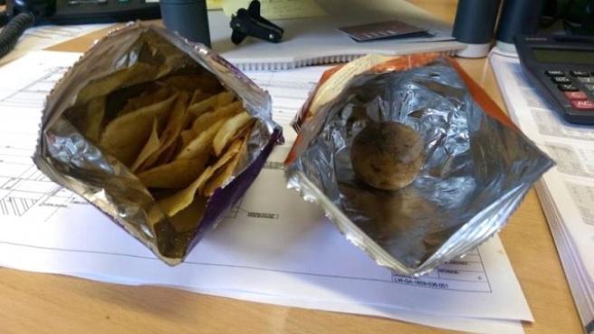 Cips Paketinden Sağlam Patates Çıktı