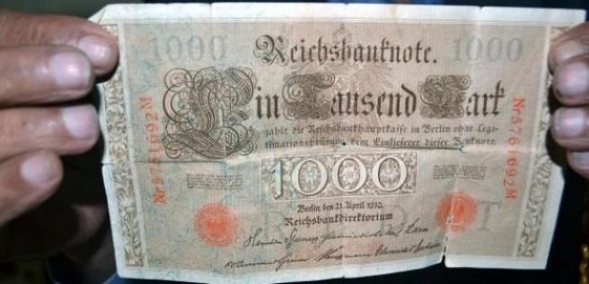 Balıkçı ağına 105 yıllık Alman parası takıldı