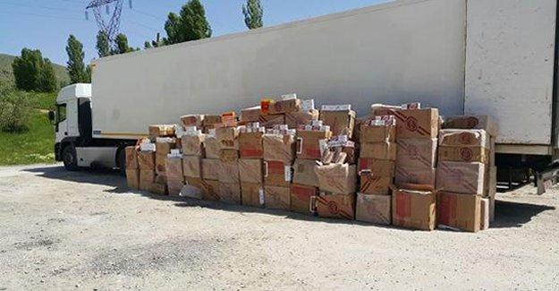 96 bin 160 paket kaçak sigara bulundu!