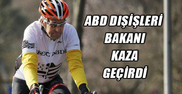 ABD Dışişleri Bakanı bisiklet kazası geçirdi
