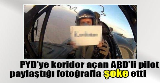 ABD'li pilotun paylaştığı fotoğraf şok etti!