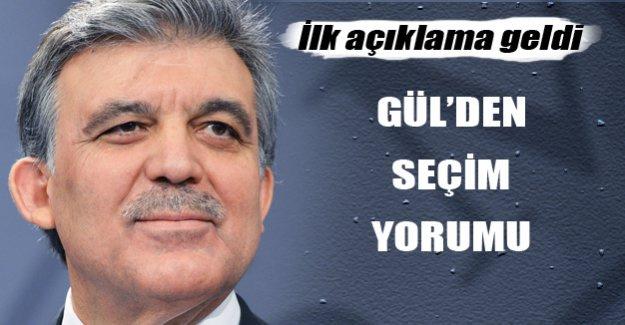 Abdullah Gül'den seçim değerlendirmesi