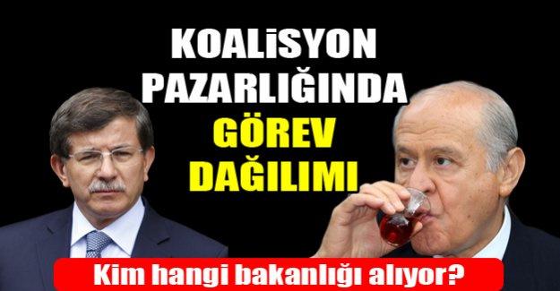 Ak Parti MHP koalisyonunda görev pazarlığı