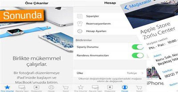 Apple Store uygulaması Türkiye'de yayınlandı
