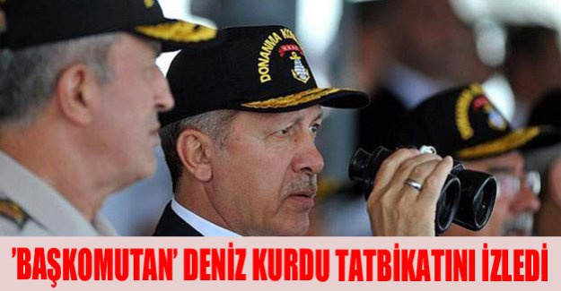 'Başkomutan' Deniz Kurdu tatbikatını izledi