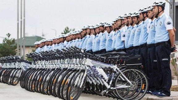 Bisikletli polis timi 'Martılar' görevde