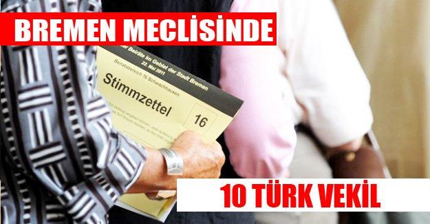 Bremen meclisine 10 Türk vekil girdi