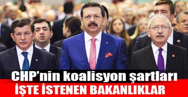 CHP'nin koalisyon şartları: İşte istenen bakanlıklar