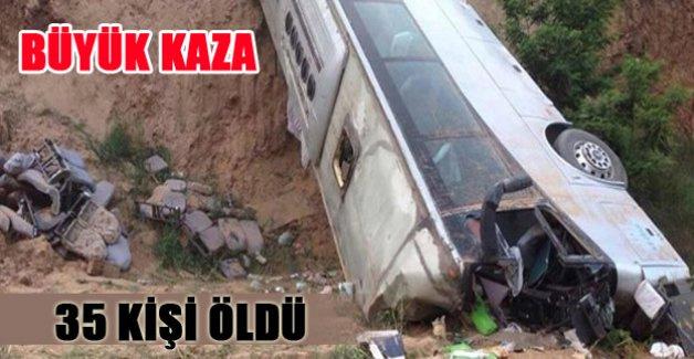 Çin'De büyük kaza! 35 kişi yaşamını yitirdi