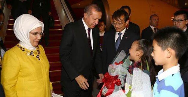 Cumhurbaşkanı Erdoğan Çin'e gelir gelmez...