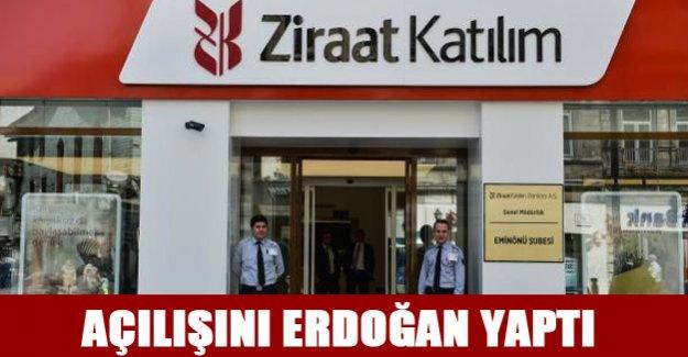 Cumhurbaşkanı Ziraat Katılım bankasının açılışını yaptı