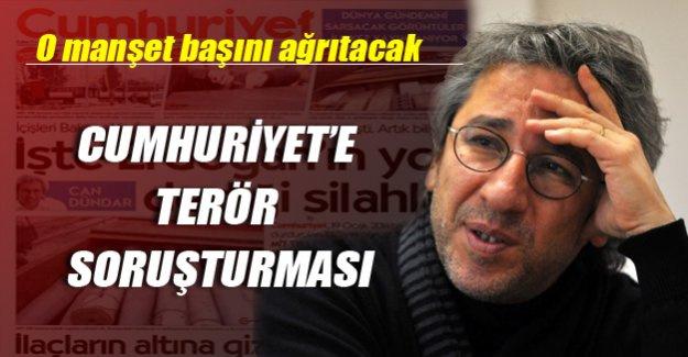 Cumhuriyet gazetesine terör soruşturması!