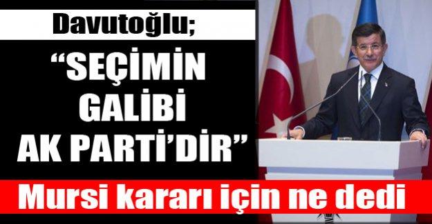 Davutoğlu, 'AK Parti seçimin galibidir'