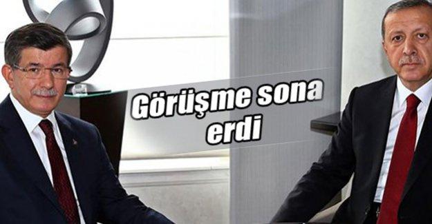 Davutoğlu-Erdoğan görüşmesi sona erdi
