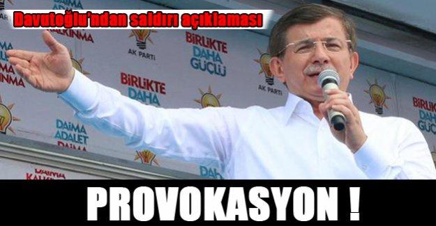 Davutoğlu'ndan HDP saldırısıyla ilgili açıklama