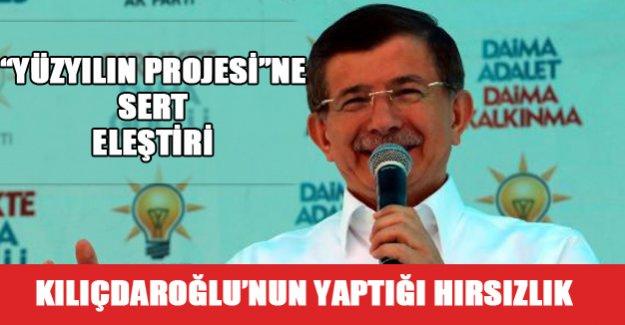 Davutoğlu'ndan Kılıçdaroğlu'na hırsızlık suçlaması