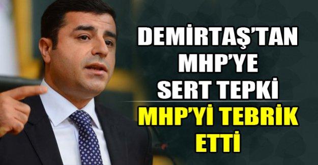 Demirtaş'tan MHP'ye sert tepki