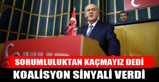 Devlet Bahçeli'den koalisyon sinyali
