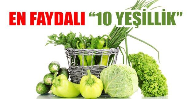 En faydalı 10 yeşillik