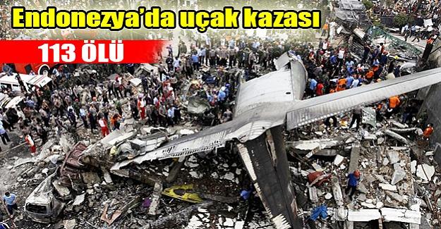 Endonezya'da uçak kazası!