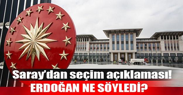 Erdoğan'dan flaş seçim yorumu