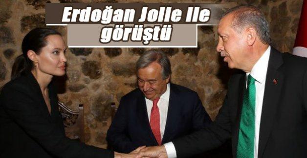 Erdoğan ile Angeline Jolie bir araya geldi