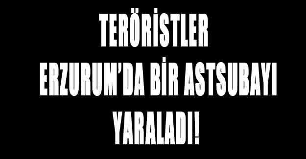 Erzurum'da bir astsubay yaralandı!