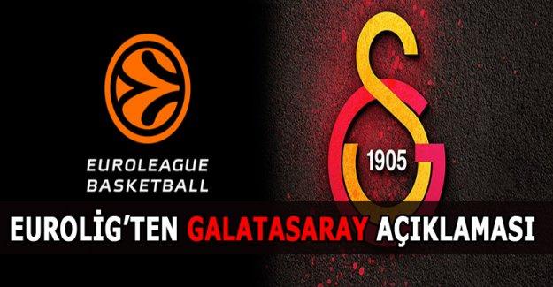 Eurolig'ten Galatasaray Açıklaması