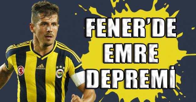 Fenerbahçe'de Emre depremi!