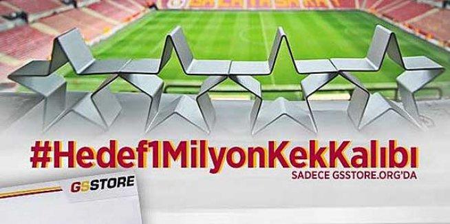 Galatasaray'dan kek kalıbı göndermesi!