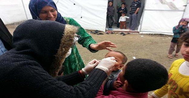 Gaziantep'te Suriyeli çocuklar aşılandı