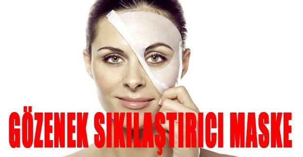 Gözenek sıkılaştırıcı maske